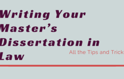 Medium writing your master s dissertation in law